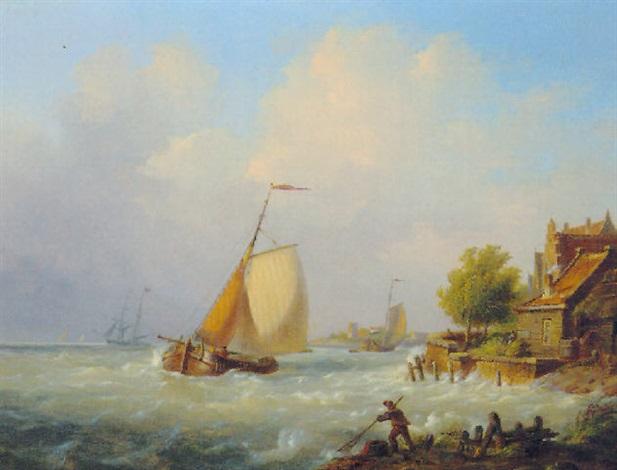 retour de la pêche by h. koekkoek