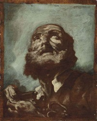 an oil sketch of saint peter by giovanni battista piazzetta