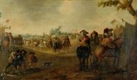 le campement militaire by cornelis droochsloot