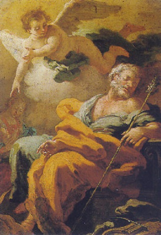 rest on the flight to egypt by ludovico vaccaro