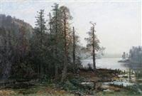 landskap med räv by oscar törnå