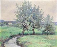 paysage de campagne by gabriel moiselet