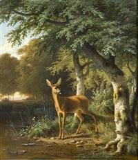 biche dans la clairière by wilhelm reinhardt