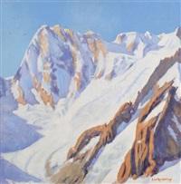 les grandes jorasses (massif du mont blanc) by robert le roy wattiaux