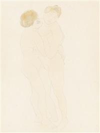deux femmes nues enlacées by auguste rodin