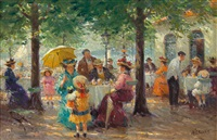 promenade café by the lake by detlev nitschke