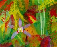 violette orchidee by siegfried fischer