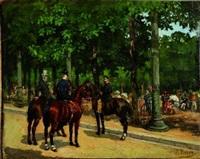 cavaliers et amazone by léon joseph voirin