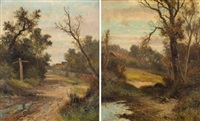 paisajes (pair) by abraham hulk the younger