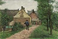 bij het dorp (+ achter het huis, 1944; 2 works) by paul arntzenius