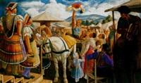 vásári akrobaták (market acrobats) by jenö gábor