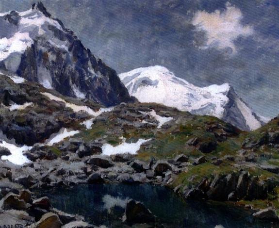 laiguille du midi et le mont blanc by angelo abrate