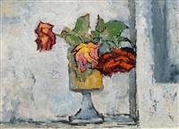 roses in a vase by otto niemeyer-holstein