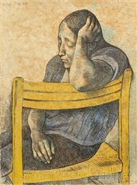 muchacha en una silla by francisco zúñiga