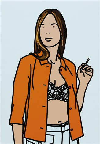 ruth smoking white by julian opie