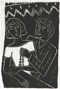paar (+ anbetung; 2 works) by werner gothein