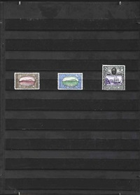 tropides islands - a series of three stamps by donald evans