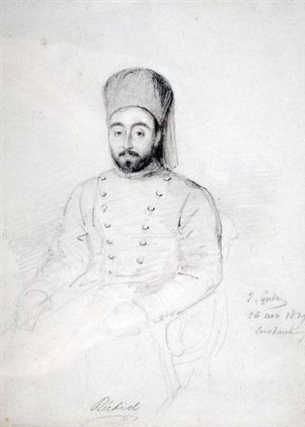 portrait de mustapha rechid pacha by baron jean antoine théodore gudin