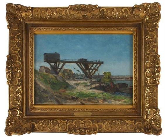 le pont roulant devant la seine aux environs du quai de grenelle by paul gauguin