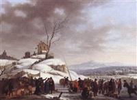 les plaisirs de l'hiver by adolphe eugène gabriel roehn