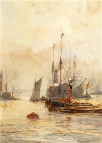 pool of london by frederick william scarborough