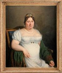 portrait de marie-joséphine de savoie by marie elénore godefroy
