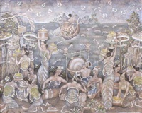 ceremony by the beach by i ketut gelgel