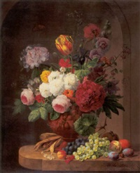 still life with flowers by anthony oberman