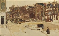 a view of the rokin, amsterdam by george hendrik breitner