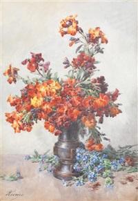 bouquet de fleurs aux bleuets by françois rivoire