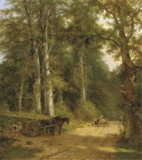 friendly encounters on a sandy track by frans arnold breuhaus de groot