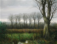 landscape with trees by eugene conway