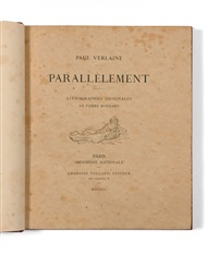 parallèlement (bk by paul verlaine w/10 works) by pierre bonnard