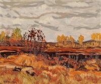 autumn landscape by randolph stanley hewton