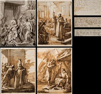 santos del año (set of 14) by antonio velazquez