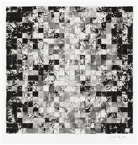grid revisited (study for black monolith, iii) by jack whitten