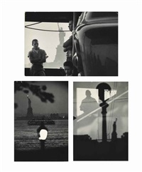 views of the statue of liberty, new york (3 works) by bruce davidson