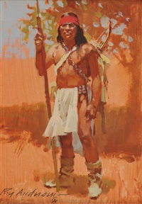 indian standing by roy andersen