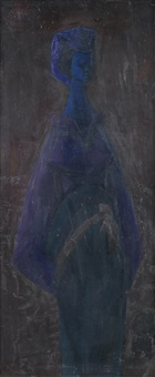 the blue madonna by yusuf grillo
