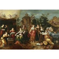 the parable of the wise and foolish virgins by pieter lisaert iv