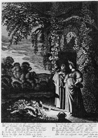 ceres changing stellio into a lizard by willem outgertsz akersloot