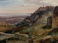 vue de gerace (calabre) by antoine xavier gabriel de gazeau