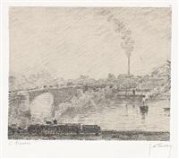 pont à rouen by camille pissarro