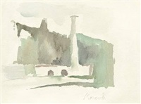 paesaggio levico by giorgio morandi