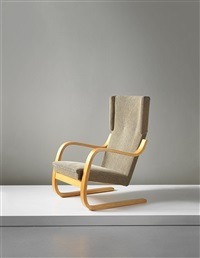 early cantilevered highbacked armchair, model nos. 36/86 and 402 by alvar aalto