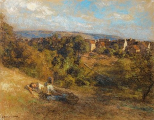le repos des paysans by léon augustin lhermitte