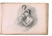 album comprenant 43 pages dont 41 ornées de dessins (sketchbook w/41 works) by étienne charles leguay