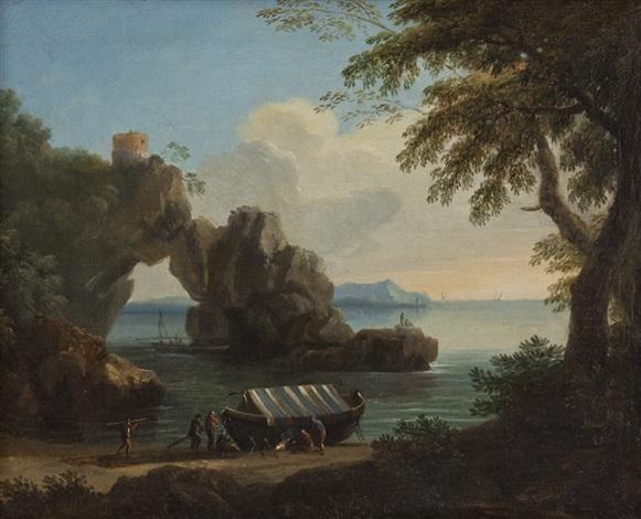 paesaggio con arco naturale sulla sinistra by gregorio fidanza