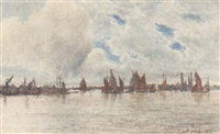 the thames at halfway reach by francis seymour leslie