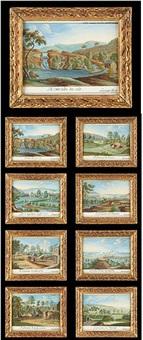 vues des environs de spa et une d'aix la chapelle (8 works) by mathieu antoine xhrouet